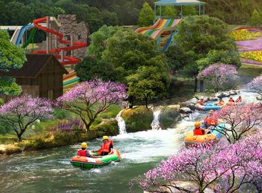 湖北阳新滴水岩瀑布漂流生态旅游区