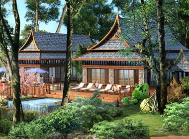 紫龙湾温泉度假村规划设计