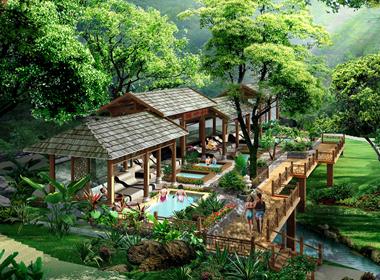 黄山飘雪温泉度假村规划设计